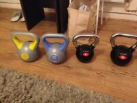 Four Kettle Weights