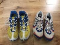 Running spikes sizes 6 and 7