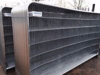 🌟 Heras Round Top Fencing ♦♦ New ♦♦ 40 Panels, Feet & Clips