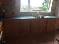 Complete hand-made kitchen for sale. Selected appliances included.