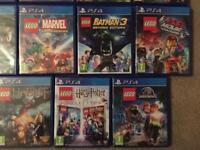 Various PS4 Lego Games Ninjago, Force, City, Worlds