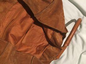 Brown suede bag JACK WILLS