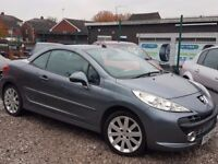 **2007 57 REG PEUGEOT 207 CC GT 1.6HDI DIESEL 76k MOT.FULL BLACK LEATHER INTERIOR, GREAT RUNNER**