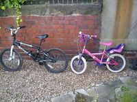 Kids bikes / bicycles / BMX