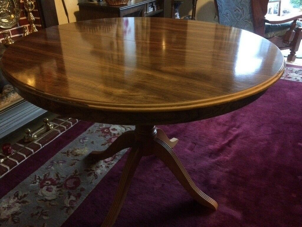 Dark Wood Dining Table For Sale