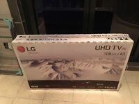 BRAND NEW 43 INCH 4K ULTRA HD SMART LED HDR TV. CAN DELIVER