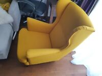 Yellow IKEA armchair