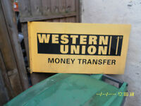 WESTERN UNION 'Metal Sign'.