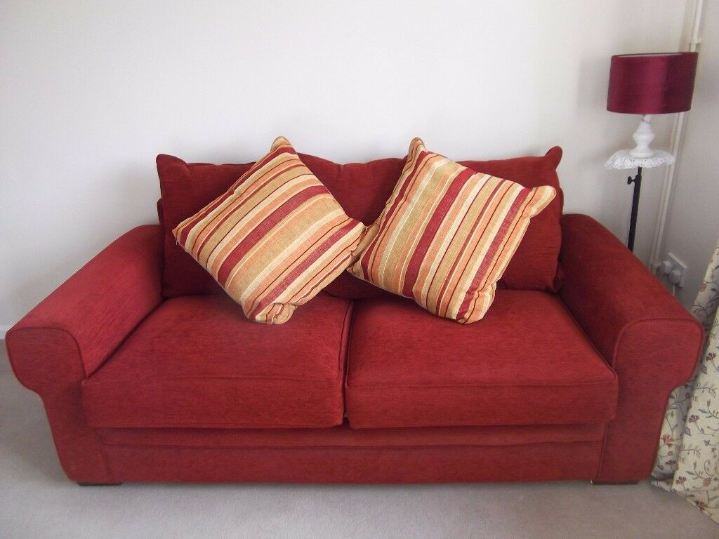 RED SOFA 2 SEATER