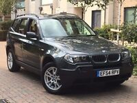 BMW X3 2.0D DIESEL SE 6 SPEED MET BRITISH GREEN WITH CREAM LEATHER SEATS CHECK-IT