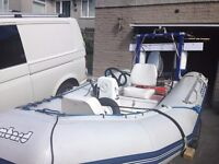 Bombard 3.8 proper RIB boat, superb package ready to go, 25 mariner roller trailer