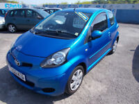 STUNNING TOYOTA AYGO 998 DRIVES A1 £20YEAR TAX F.S.H NEW MOT WARRANTY , FINANCE AVAILABLE PX WECOME
