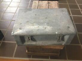 Vintage Amunition Case Metal Box Storage Display Decor militaria