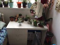 Small desk/ dressing table with removable mirror