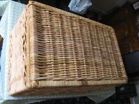 Wicker Laundry Storage Basket