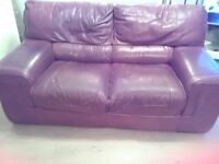 Free comfortable real leather sofa. Must go by Saturday.