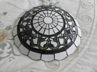 Tiffany style lightshade/uplighter stained glass and leaded