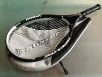 Dunlop sport Attack Tennis Racket with case in good condition