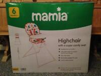 Boxed like new high chair, 6m+