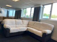 SOFA SALE - Brand New Corner Sofa - Stone Fabric