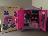 Build a Bear Wardrobe with talking bear, clothes, shoes and accessories