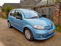 Citroën C3 HDi Exclusive diesel, cheap to run and tax (£30). MOT April 2017.