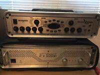 Behringer Bass V-Amp pre amp effects unit with 2u rack case