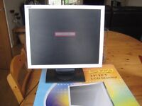 """DGM L-1721 17"""" TFT LCD Monitor Silver & Black PC Monitor/Screen with power & VGA Cables"""