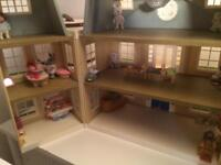 Sylvanian family grand hotel and toy shop and sweet cart