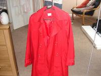 Ladies Dark Red Light Raincoat