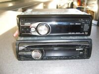 JVC & SONY CAR CD PLAYERS X2 BOTH USB PORTS