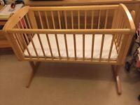 Mothercare swinging crib incl brand new in packet John Lewis crib mattress bedding