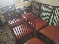 Set of 6 Dining Table Chairs---Good Condition