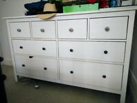 IKEA white hemnes 8 drawers chest of drawers, collect east london