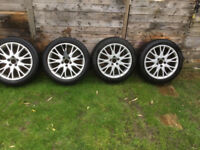 4 alloy winter wheels 17 inch volvo v 50