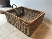 Large wicker basket for sale, log basket or storage