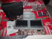 Twin screen portable dvd player