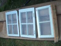 Wooden frame small windows for garden house / shed