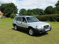 53 REG SUBARU FORESTER 2.0X PETROL ESTATE SILVER 5DR 1 OWNER FSH MOTED OUTSTANDING CHEAP CAR BARGAIN
