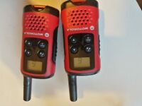 Motorola walkie talkies.License free. Up to 4km range