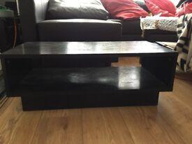 HOME Cubes 1 Shelf Coffee Table - Black Ash