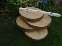 Tree Trunk Slices - Garden Decoration DIY Project