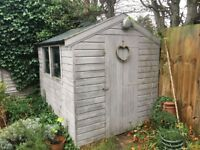 Garden Shed, in good condition, but needs new roof felt. 8ft x 6ft. £50 buyer dismantles.