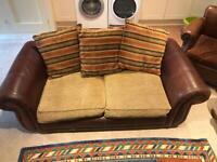 Leather / fabric. Sofa