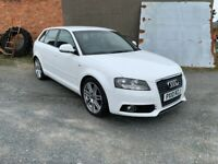 Audi, A3, Hatchback, 2010, Manual, 1968 (cc), 5 doors, 170bhp, S-Line