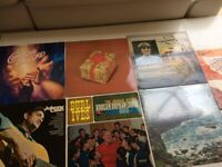 Collection of 7 themed vinyl LPs, Johnny Cash, Aled Jones, Burl Ives