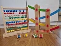 Wooden Abacus & Zig Zag Race Track