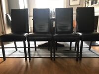Leather Dining Chairs x 4