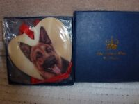 Alsation Dog - Old Tupton Ware Heart - New