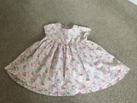 Pretty pink floral Girls dress from Next 9-12 months